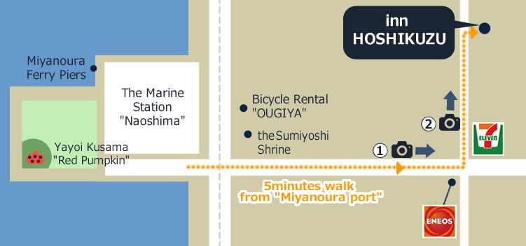 innHoshikuzu Map